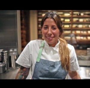 Jenny Goycochea in the kitchen