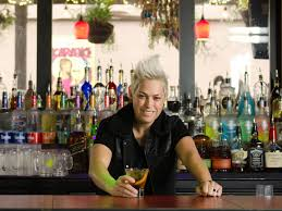 Moe Girton behind the bar