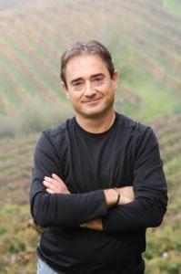 Alan Tardi in the vineyard