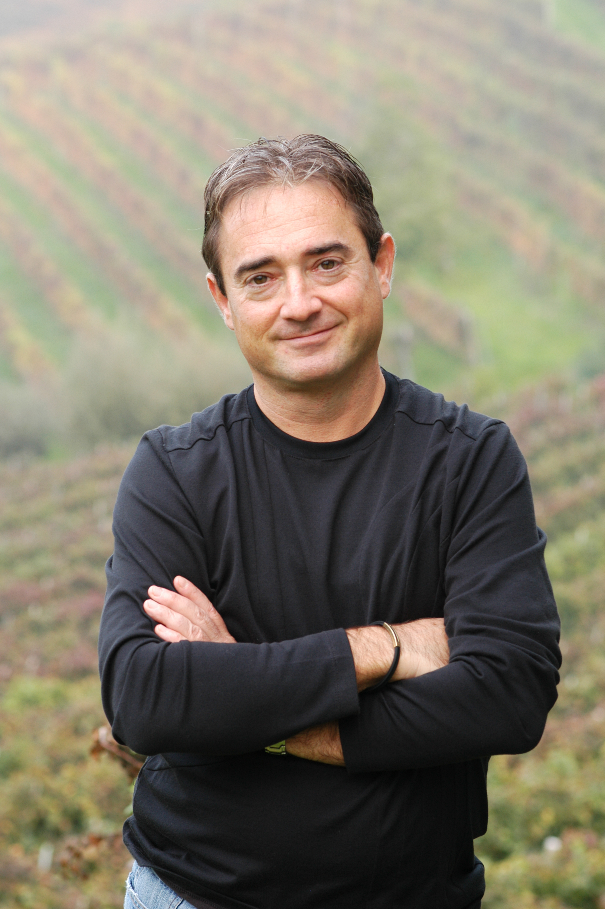 Alan Tardi in the vineyard