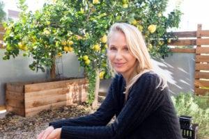 Brooke Rewa by a lemon tree
