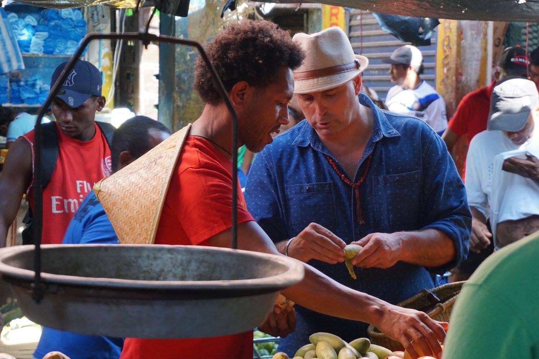 Matthew Biancaniello Negotiating at the market