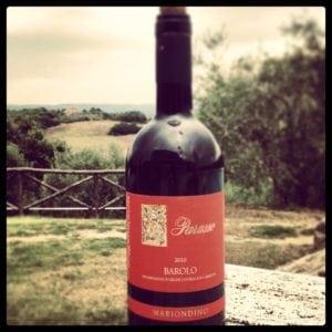 A bottle of Barolo