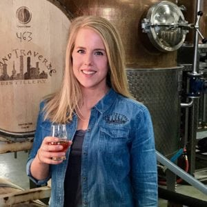 Lacie Thornton at the distillery