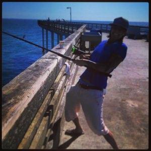 Debi fishing